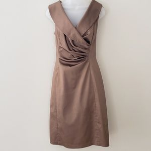 Kay Unger Silk Wrap Front Dress